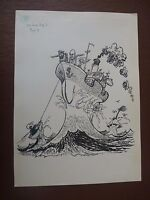 All At Sea Pen & Ink Orig 20th C Illus,bill Hewison, Art Editor Of Punch Magazin -  - ebay.co.uk