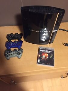 PS3 3 controller and mine craft