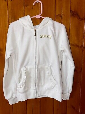 Juicy Couture Little Girls Crown Logo Velour Hoodie, Size 6X