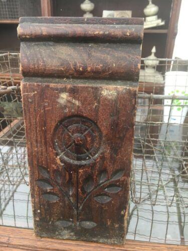"LARGE spoon carved c1890 Plinth molding blocks Victorian age 11"" x 5"" x 1.25"""