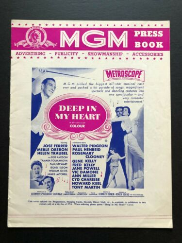 "Deep in My Heart Original Pressbook (London, 1954) - 12 Pages 9.5"" x 12.5 "" EX+"