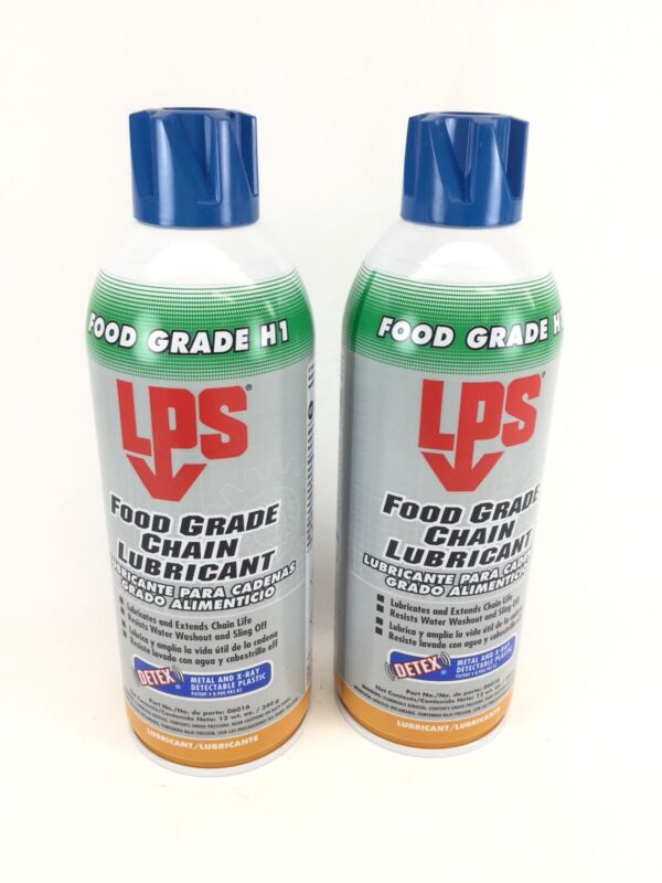 (2 PACK) LPS 06016 DETEX Food Grade Chain Lubricant Water Resistant 12 Oz.