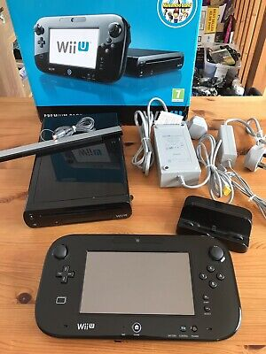 Nintendo Wii U Black 32GB Console Bundle Boxed TESTED FREE & FAST POST