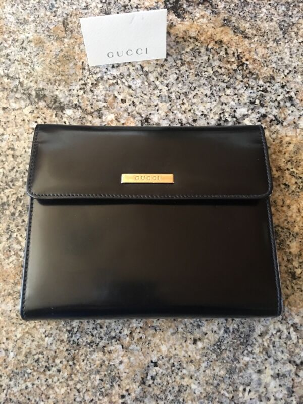 Authentic Gucci Black Leather Day Planner Made in Italy