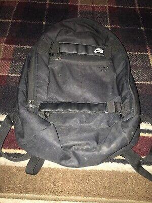 Nike SB PRM Skateboarding Backpack Book Bag Black/Black Sportstyle