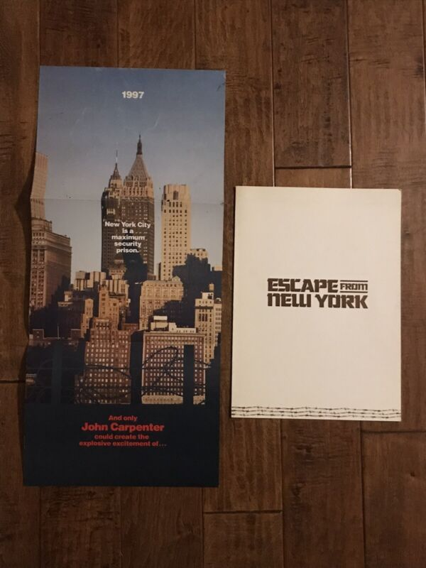 Escape From New York -  Rare 1980 Advance Promo Brochures - Russell- Carpenter