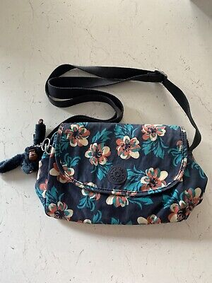 Kipling Floral Cross Body Bag, Comes With Kipling Monkey