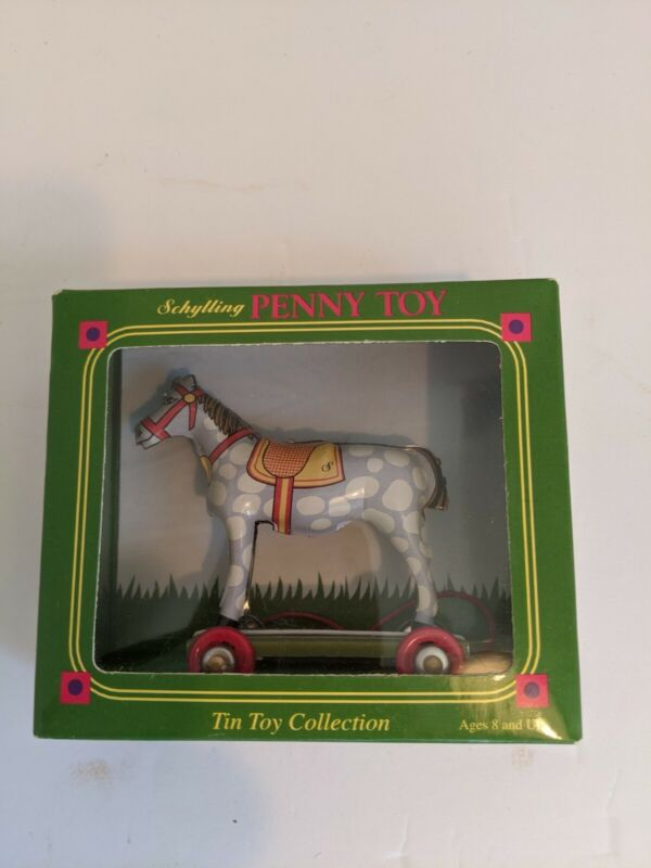 Schylling Penny Toy Gray/ White Horse New Ornament