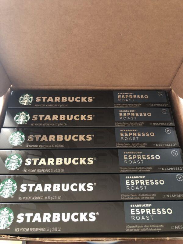 Starbucks by Nespresso Espresso Roast Coffee Capsules   60-count EXP 04/2021