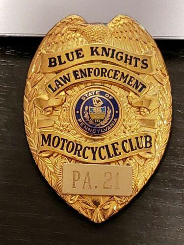 Vintage Blue Knights Motorcycle Club Law Enforcement Badge Pennsylvania PA