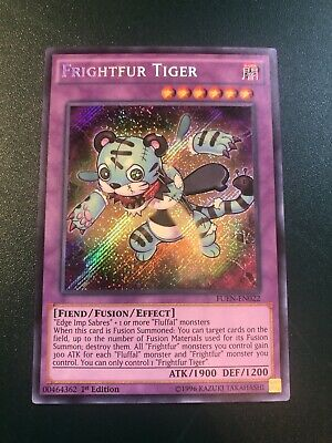YUGIOH! FRIGHTFUR TIGER FUEN-EN022 1st ED SECRET RARE NM CARD