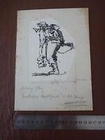 Original Soldier Laden With Equipment .. Pen & Ink Orig 20th C Illus,bill Hewiso - equipment - ebay.co.uk