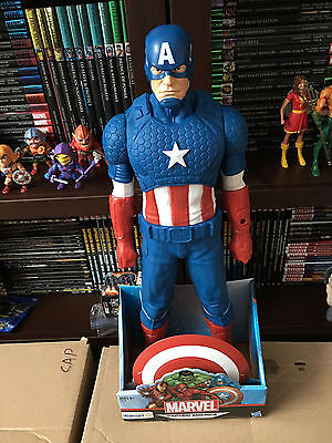 Hasbro 20  Titan Hero Captain America Wal Mart Exclusive New In Package