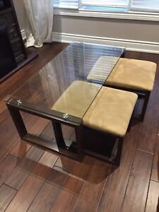 Coffee Table and Nesting Stools