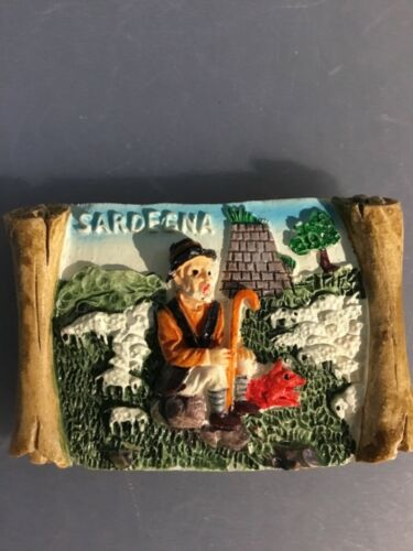 Vintage Sardegna, Italy 3D Refrigerator Magnet