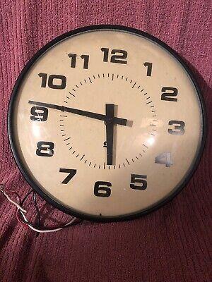 """Nice Vintage 14"""" Simplex School Clock Complete/parts Untested"""