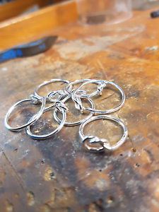 Hand made sterling silver knot rings Narre Warren South Casey Area Preview