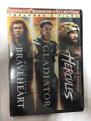 Ultimate Warrior Collection: Braveheart/Gladiator/Hercules: Triple Pack [New DVD (Movie Hercules 2017)