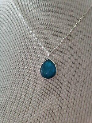 IPPOLITA Wonderland Mini Teardrop Pendant Sterling Silver Necklace in Malibu New