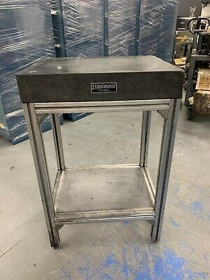 Standridge Granite Surface Plate W Thru Hole Stand - Grade B 24 X 18 X 4