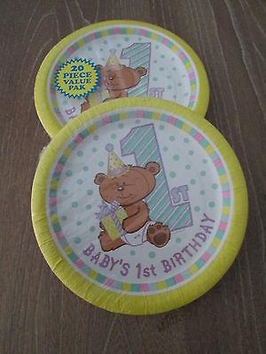 BABYS FIRST BIRTHDAY PARTY DESSERT PLATES 7