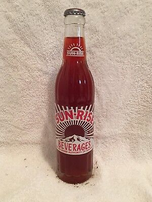 Full 10Oz Sun Rise Black Cherry Acl Soda Bottle Coca Cola