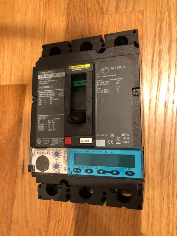 SCHNEIDER ELECTRIC HGL36060U44XMOULDED CASE CIRCUIT BREAKER Micrologic 6.2A600V