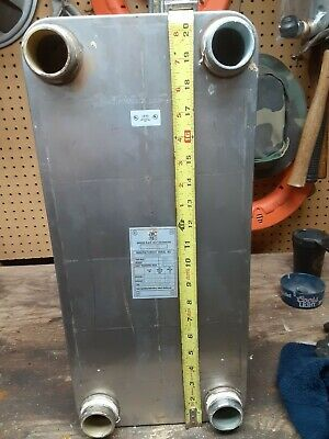 Aic Brazed Plate Heat Exchanger Lc110-30x 36 Sq. Ft. 1-12 Mpt Solar Brewing