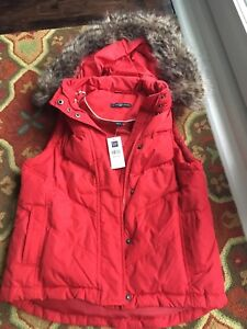 Gap Down-Filled Vest with Removable Hood - Brand New