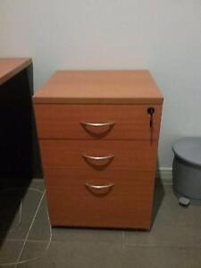 3 drawer (under desk) lockable mobile pedestal (keys included) Redlynch Cairns City Preview