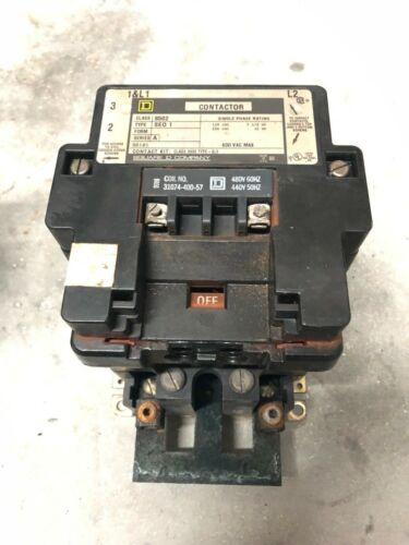 Square D Nema 3 Contactor 8502 SE01 480 V Coil