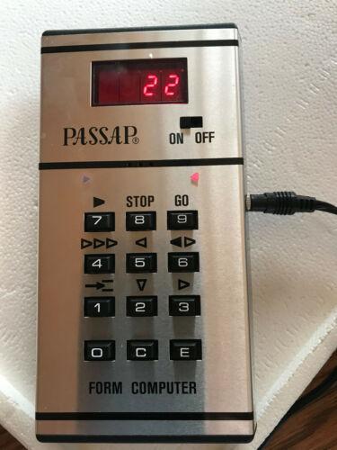 Nice Passap Duomatic Form Computer Powers On!