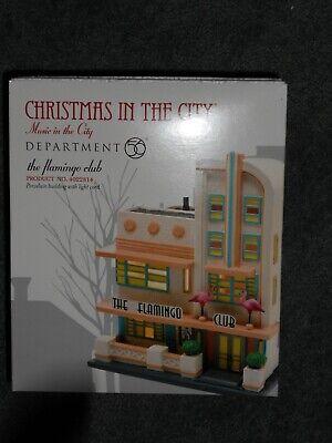 DEPT 56 CHRISTMAS IN THE CITY Village THE FLAMINGO CLUB NIB *Still -