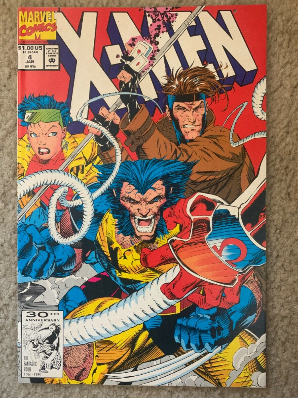 X-Men 4 5 1st 2nd Appearance Of Omega Red - Jim Lee 1992  - $54.99