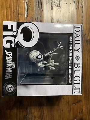 Marvel Loot Crate Exclusive Black & White Variant Hanging Spider-Man Q-Fig (A)**