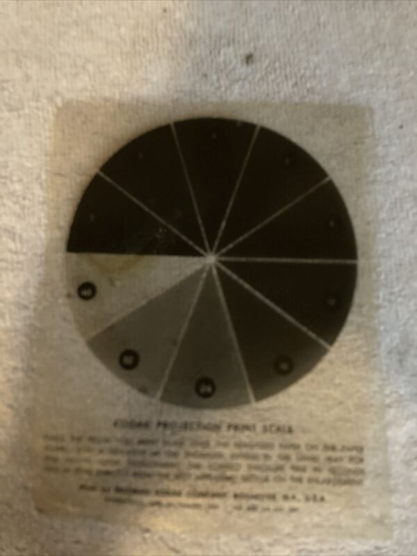 Vintage 1942 Kodak Projection Print Scale for Darkroom Printing