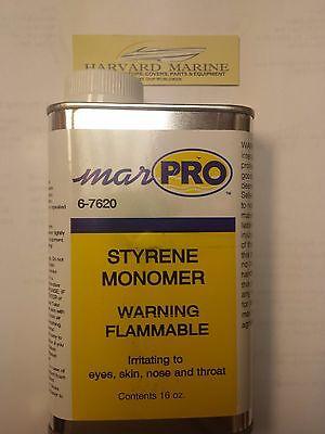 Marpro BOAT MARINE PAINT FIBERGLASS STYRENE MONOMER Resin/Gel Coat Thinner 16oz