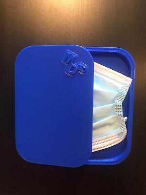 Porta mascherina custodia cover contenitore personalizzabile blu