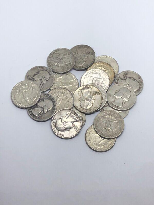 3 Quarter Lot 1932-1964 Various WASHINGTON QUARTERS US 90% Silver 3 Coin Lot