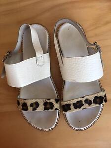 White leopard print sandals Boronia Knox Area Preview