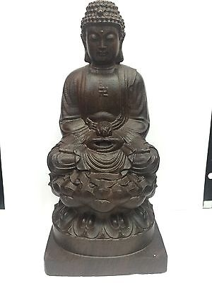 Wood Craving Buddha Statue.