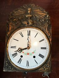 French Style? Brass Wall Clock SBS FEINTECHNIK CLOCKWORK MARKED 661