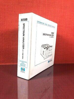 Hp 8558b Spectrum Analyzer 0.1-1500mhz Operation And Service Manual 6b1921