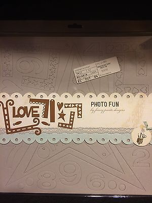 Fancy Pants Designs Photo Fun Raw Chipboard. Sealed!