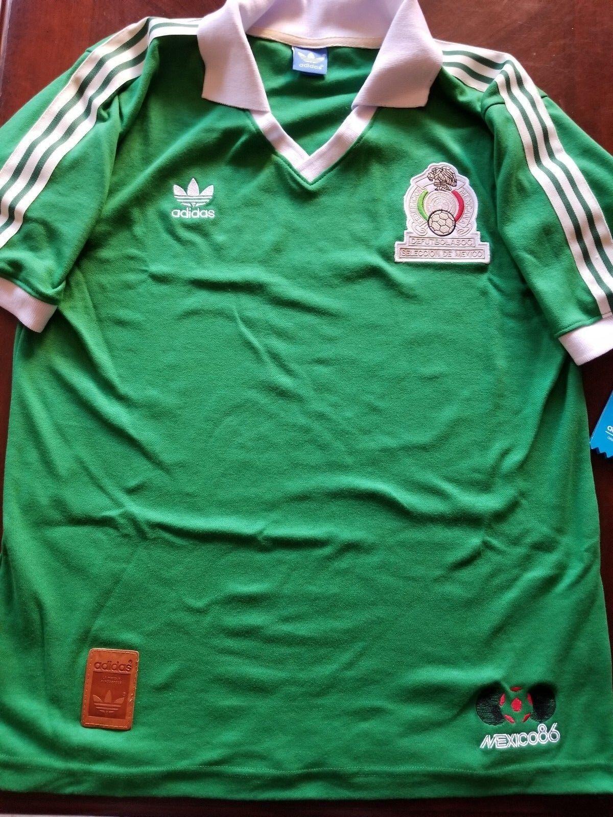 Adidas Mexico 86 Jersey Seleccion Mexicana Chivas America Cruz ...