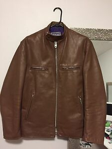 1960s LEATHER CAFE RACER MOTORCYCLE JACKET