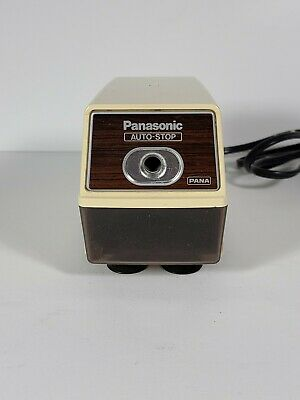 Panasonic Vintage Auto-stop Electric Pencil Sharpener Kp-100n Tested Works