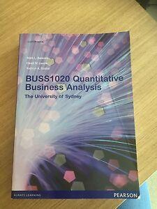 Unused BUSS1020 Quantitative Business Analysis Textbook Camperdown Inner Sydney Preview