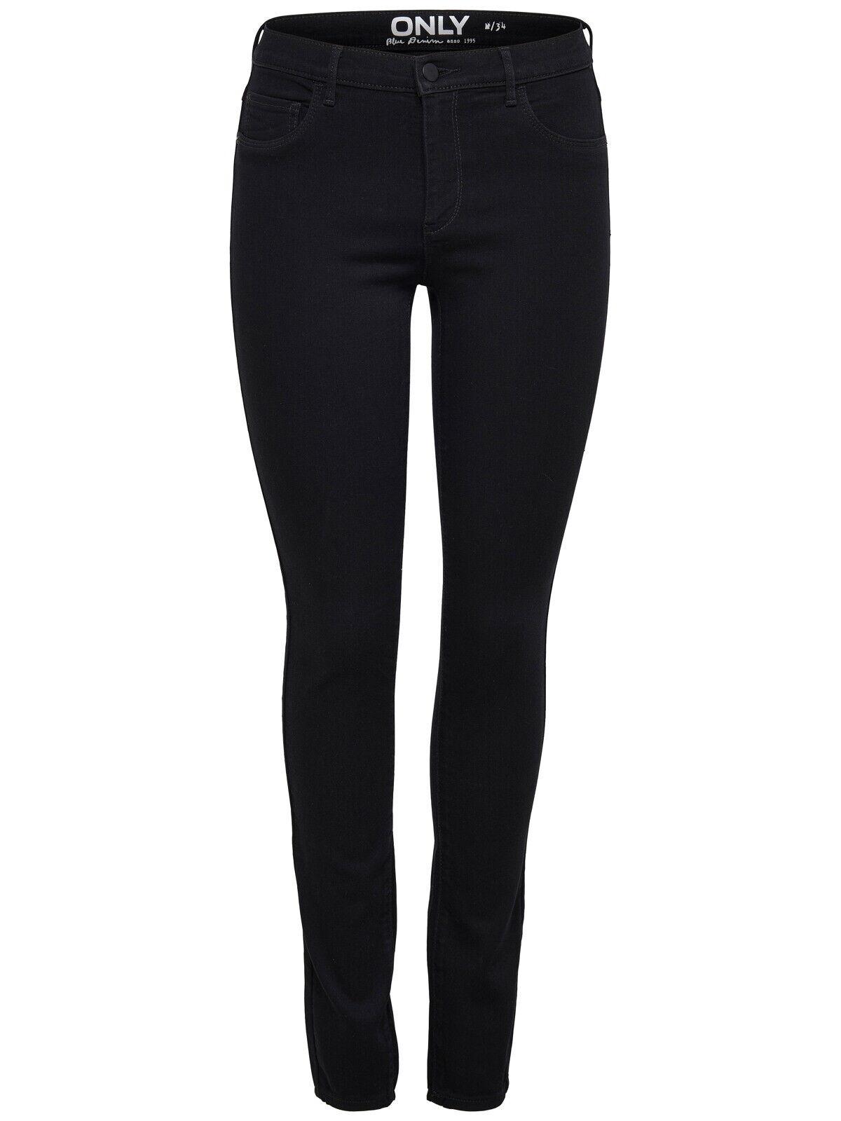 Only Damen Stretch Jeans-Look Röhre Skinny Hose schwarz Jeggings Treggings NEU