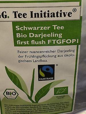 1kg Darjeeling First Flush Schwarzer Tee FTGFOP 1 Bio ÖKO FAIRTRADE - Flush